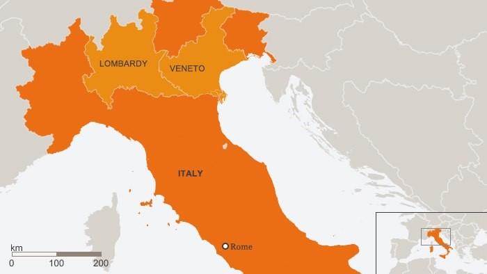 Datos de COVID-19 en Italia hasta el 15 de junio del 2020.
